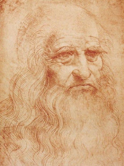 Leonardo da Vinci, autoritratto, 1512 ca. Biblioteca Reale, Torino