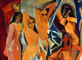 Pablo Picasso, Les Demoiselles d'Avignon, olio su tela, 244x233 cm, New York, Museum of Modern Art