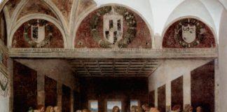 Leonardo da Vinci, Ultima Cena (Il Cenacolo), 1493-1498. Tempera e olio su intonaco, Milano, Convento di Santa Maria delle Grazie, Refettorio