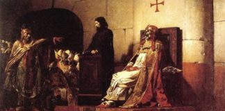 Jean-Paul Laurens, Papa Formoso e Stefano VI, 1870 [Museo di Nantes, Nantes]