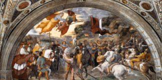 Incontro tra Leone il Grande e Attila, affresco, 1514, Stanza di Eliodoro, Palazzi Pontifici, Vaticano