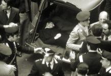 Il corpo senza vita di Aldo Moro.