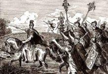 """""""Alea iacta est"""" pronuncia Cesare mentre attraversa il fiume Rubicone"""