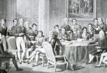 Il Congresso di Vienna, un dipinto di Jean-Baptiste Isabey