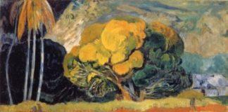 Ai piedi della montagna (Fatata te Mouà) di Paul Gauguin