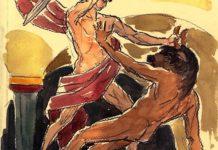 Teseo uccide il Minotauro