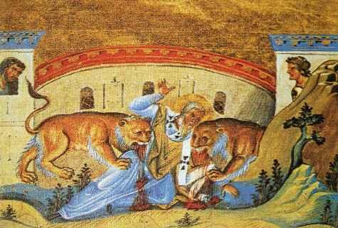 Il martirio di sant'Ignazio.