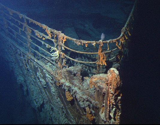 Un'immagine del relitto del Titanic