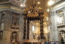Baldacchino di San Pietro del Bernini, descrizione