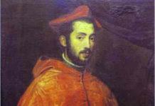 Il bambino crocefisso - Ritratto del cardinale Alessandro Farnese, di Tiziano Vecellio