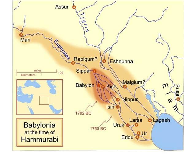 Babilonia all'epoca di Hammurabi (dal 1792 a.C. al 1750 a.C. circa)