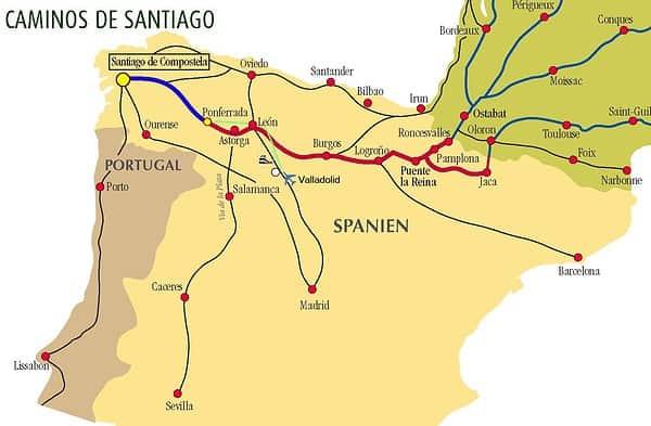 cartina santiago compostela