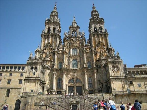 La cattedrale di Santiago di Compostela, meta del Cammino di Santiago