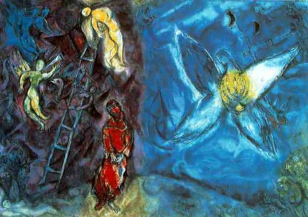 Il sogno di Giacobbe, Marc Chagall.