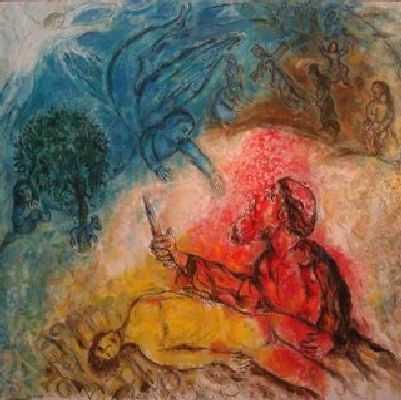 Il sacrificio di Isacco, Marc Chagall.
