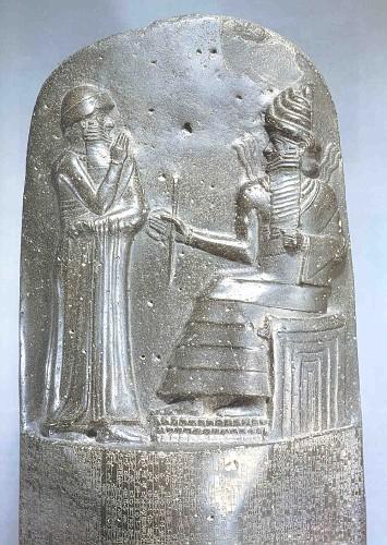 La stele che riporta il Codice di Hammurabi, oggi conservata al Museo del Louvre a Parigi.