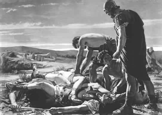 """Alcide Segoni, """"Ritrovamento del corpo di Catilina"""", 1871, Firenze, Galleria dell'Arte Moderna."""