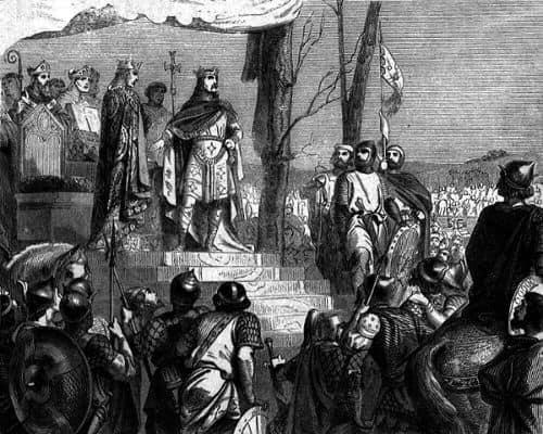 Il Giuramento di Strasburgo - Giuramento di fedeltà reciproca tra Carlo il Calvo e Ludovico il Germanico.