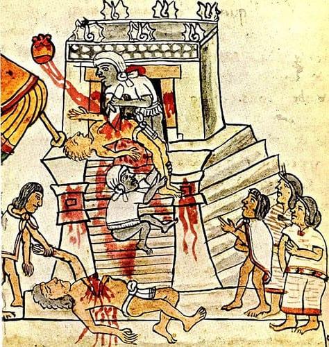 sacrifici umani del popolo azteco
