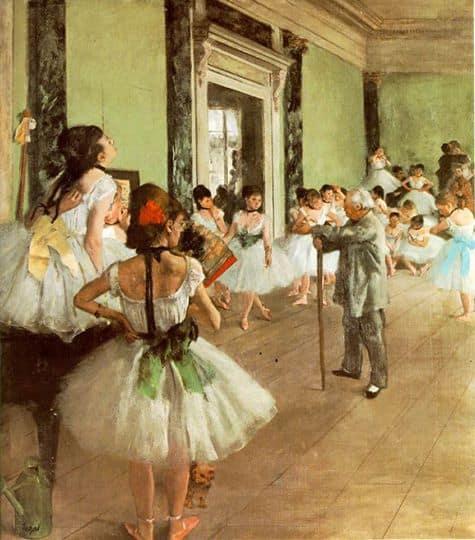 la lezione di ballo di edgar degas