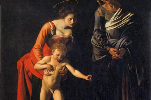 Caravaggio, Madonna dei Palafranieri, 1605, Galleria Borghese, Roma.