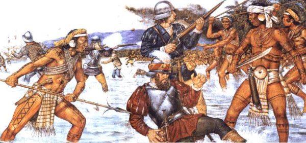 Ferdinando Magellano ucciso durante la battaglia di Mactan