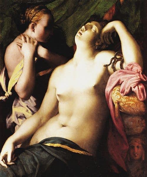 Morte di Cleopatra (1525) di Rosso Fiorentino
