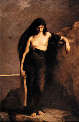 Charles-Auguste Mengin, Saffo, 1867, Manchester, Manchester Art Gallery