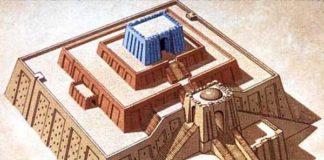 disegno ricostruttivo della ziqqurat di Ur