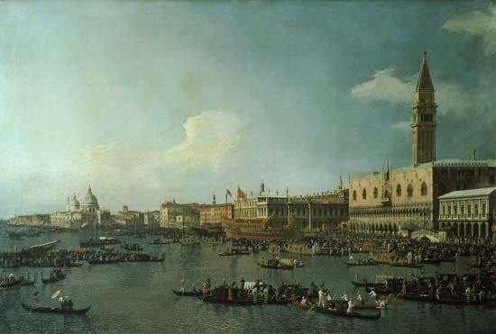 Canaletto, Il bacino di San Marco il giorno dell'Ascensione, 1735-1741 circa, olio su tela, 121x182 cm, Londra, National Gallery