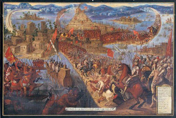 13 agosto 1521: Tenochtitlàn viene conquistata dagli spagnoli di Hernàn Cortés.
