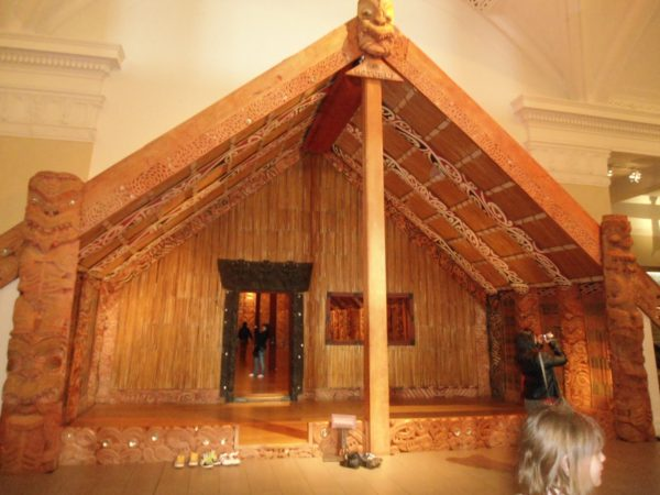 Abitazione maori, ricostruzione.