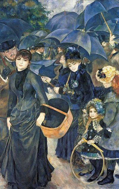 I parapioggia di Pierre Auguste Renoir