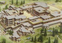 Civiltà cretese. Il palazzo di Cnosso a Creta: ricostruzione