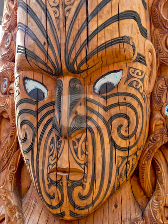 Maschera guerriera maori.