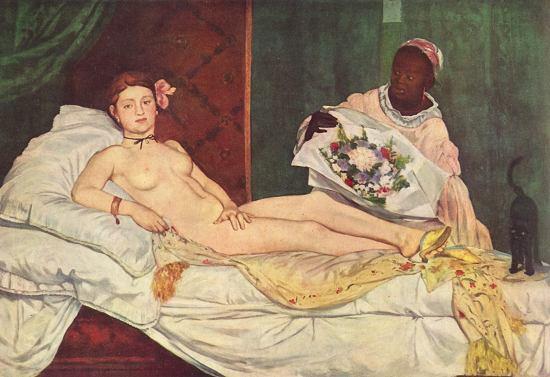 Edouard Manet, Olympia, 1863, olio su tela, Parigi, Musée d'Orsay