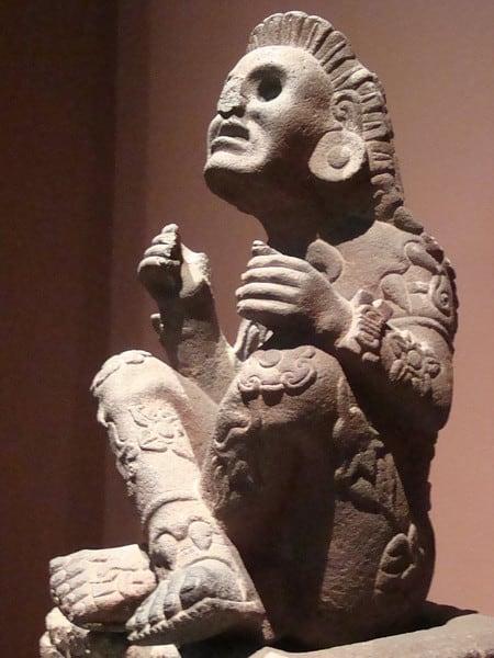 Statua di Xochipilli, 1450. Museo Nacional de Antropologia, Città del Messico