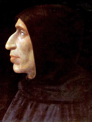 Girolamo Savonarola, 1498 ca. Dipinto da Fra Bartolomeo al secolo Baccio della Porta, 1473-1517, pittore italiano e frate
