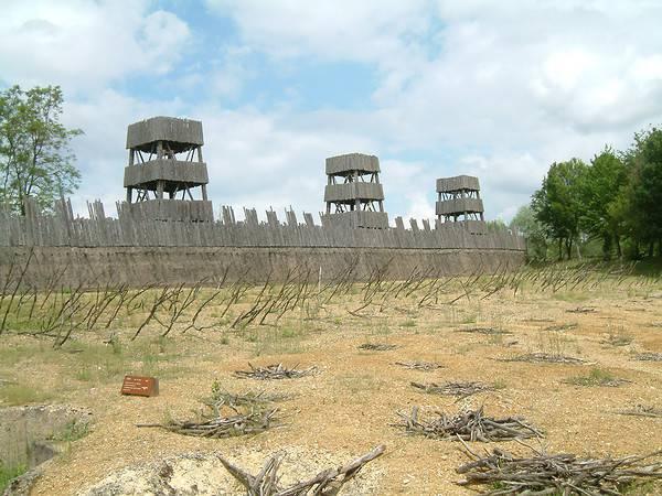 Alesia, il sito dove fu combattuta la battaglia.