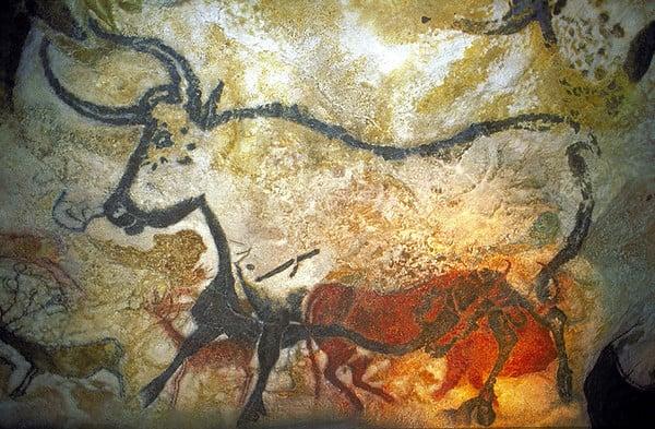 Bisonte, pittura parietale 18.000-16.000 a.C. Grotta di Lascaux, Dordogna (Francia)
