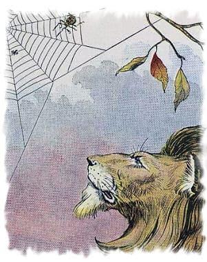 La zanzara e il leone, favola di Esopo
