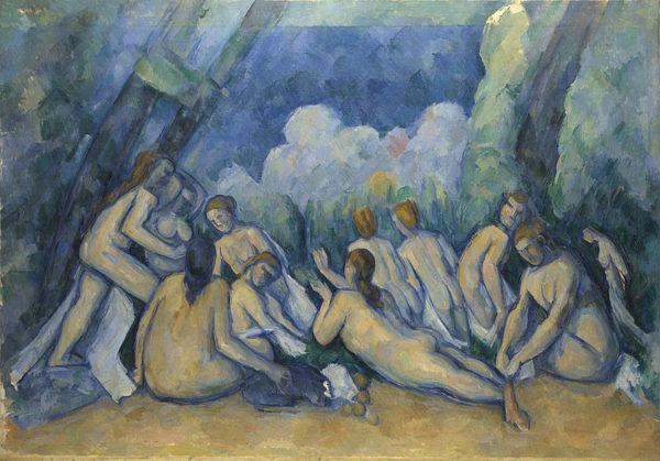 Le grandi bagnanti (Les grandes baigneuses) di Paul Cézanne, 1894-1905 ca. Olio su tela, National Gallery, Londra.