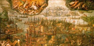 Giorgio Vasari, la battaglia di Lepanto, 1572-73 [Sala Reale del Vaticano, Roma]
