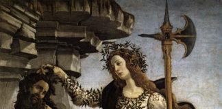 Sandro Botticelli, Pallade e il centauro, 1482 ca. Firenze, Galleria degli Uffizi