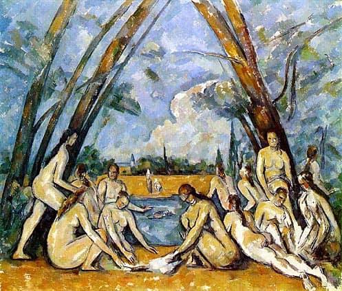Le grandi bagnanti di Paul Cèzanne, 1906. Olio su tela, Philadelphia Museum of Art.
