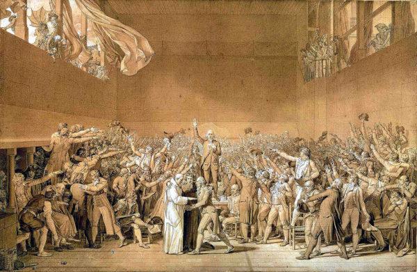 """""""Il giuramento della Pallacorda"""", 1790. Parigi, Versailles."""