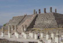 I Toltechi e la Piramide B di Tula, Messico.