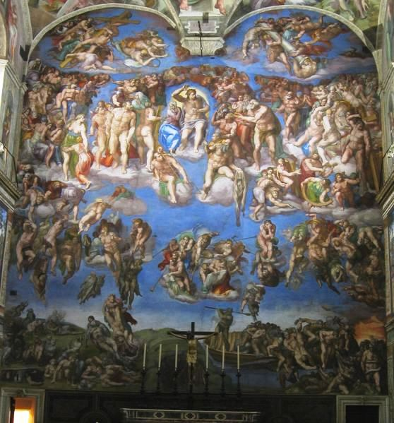 Giudizio universale di michelangelo studia rapido for Decorazione quattrocentesca della cappella sistina