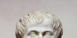 Aristotele, marmo, copia romana di un originale greco attribuito a Lisippo (330 a.C. circa) conservato presso il Museo Nazionale Romano