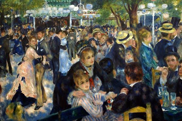 Pierre-Auguste Renoir, Ballo al Moulin de la Galette, 1876, olio su tela, 131x175 cm, Parigi, Musée d'Orsay